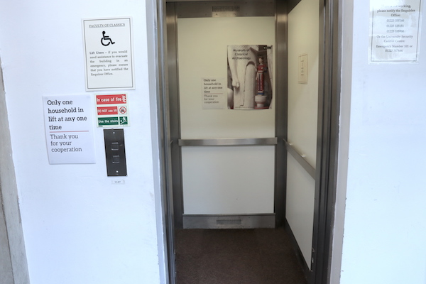 entrance to lift