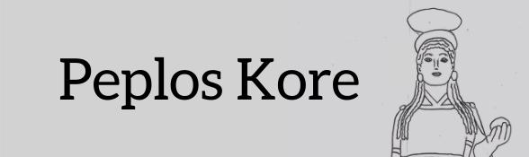 Peplos Kore colouring sheet