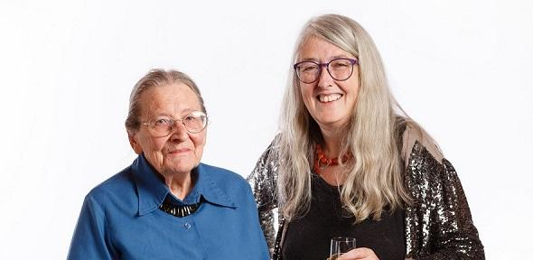 Mary Beard and Joyce Reynolds ©Institute for Digital Archaeology