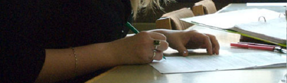 Image of student writing
