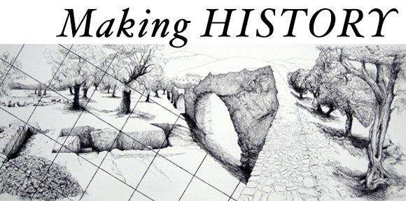 Making History: black and white landscape drawing