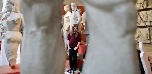 School pupils enjoy a visit to the Museum of Classical Archaeology